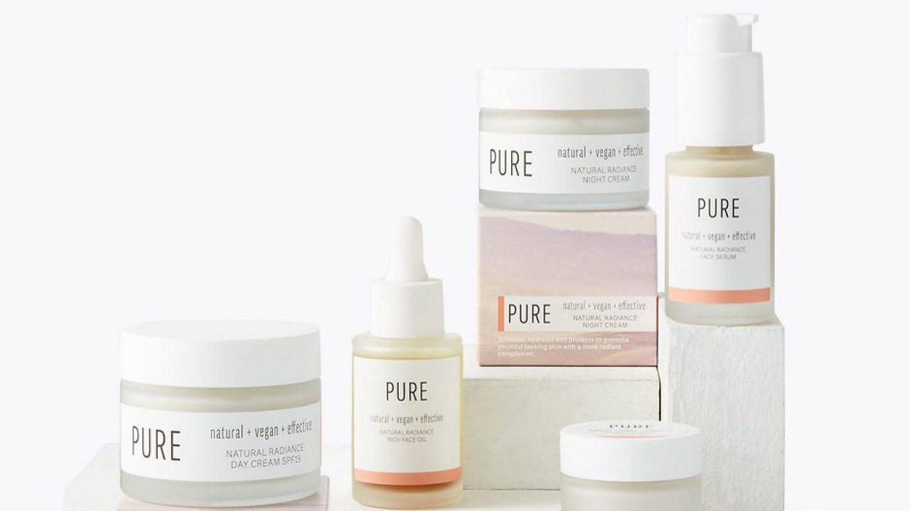 M&S Pure collection vegan skincare