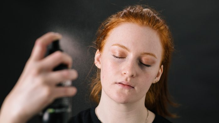 Face toner skincare routine