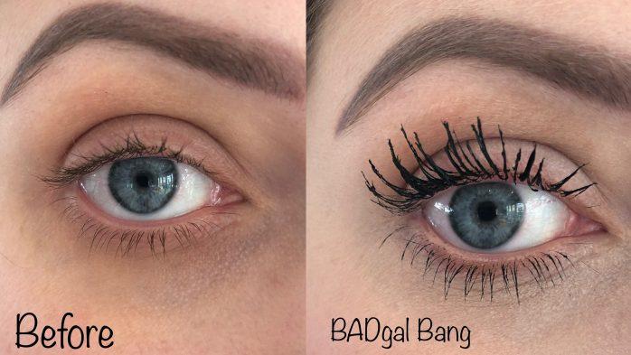 BADgal bang Benefit mascara side by side
