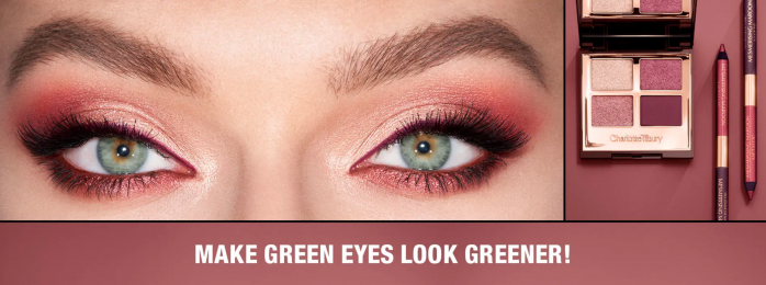 Charlotte Tilbury purple eyeshadow palette for green eyes