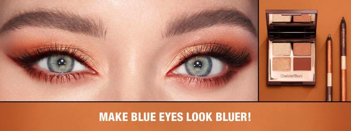 Charlotte Tilbury copper eyeshadow palette for blue eyes