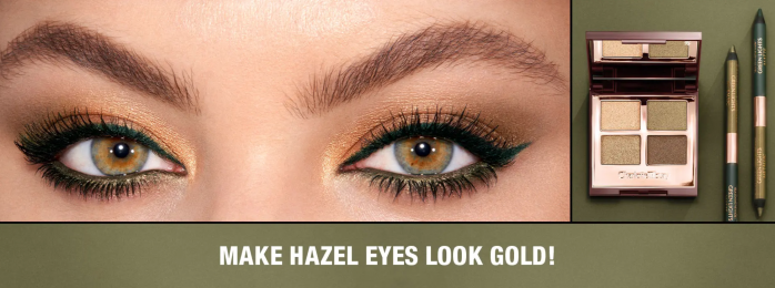 Charlotte Tilbury green eyeshadow palette for hazel eyes