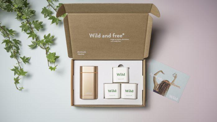 Wild deodorant box