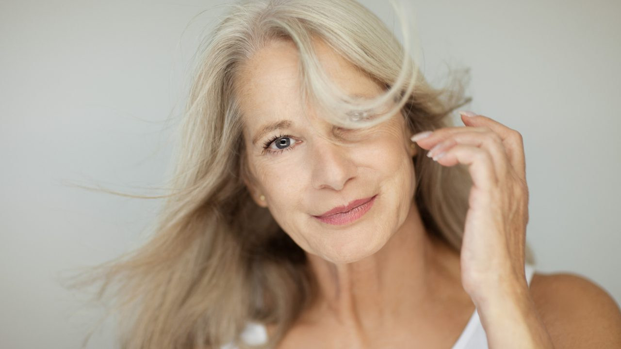 What happens during menopause to skin and hair