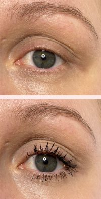 Huda Beauty mascara before and after photos