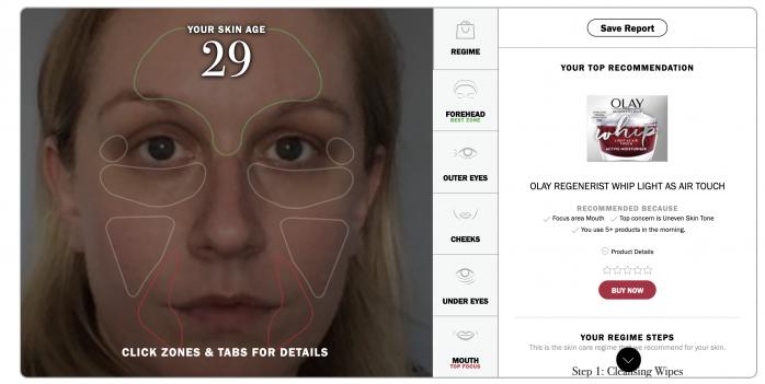 Olay Skin Advisor Skin Age test