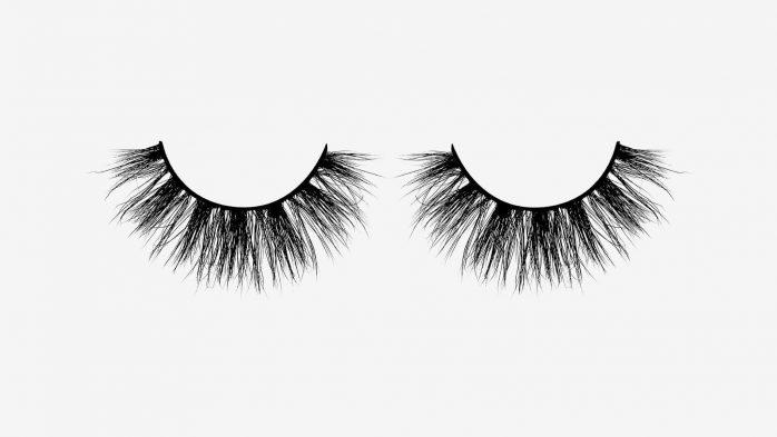 Velour false eyelashes