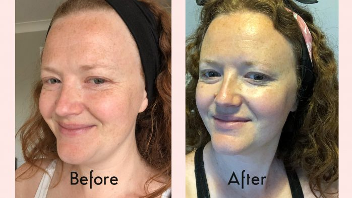 Avon Plumping Shots review Before and After Full Face