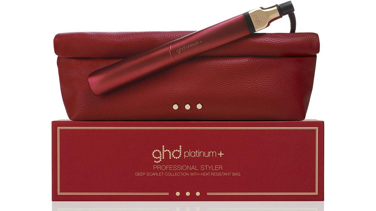 GHD Platinum Plus Scarlet Red straighteners