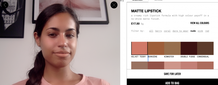 Try on Mac makeup online