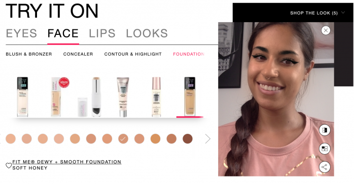 Maybelline Virtual Try on
