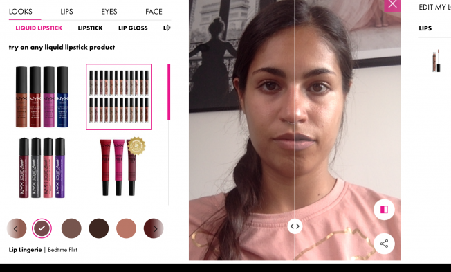 Try on NYX makeup online