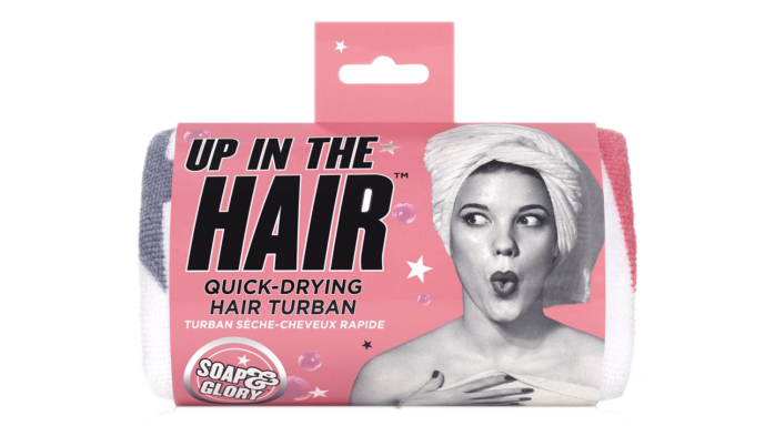 Soap and Glory fast drying hair turban
