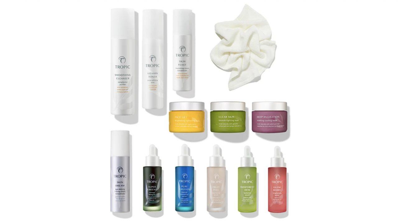 Tropic Skincare selection