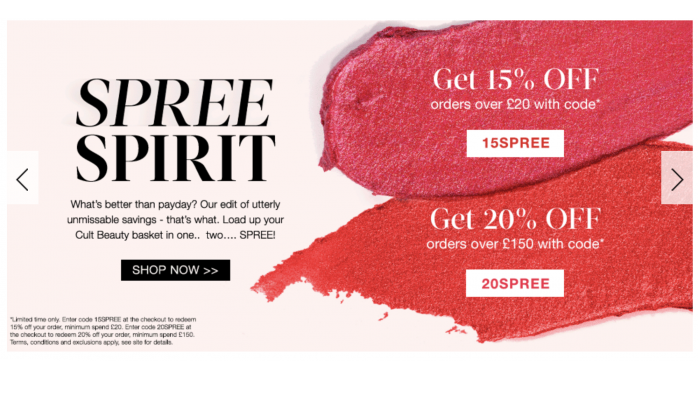 Spree Spirit Cult Beauty sale