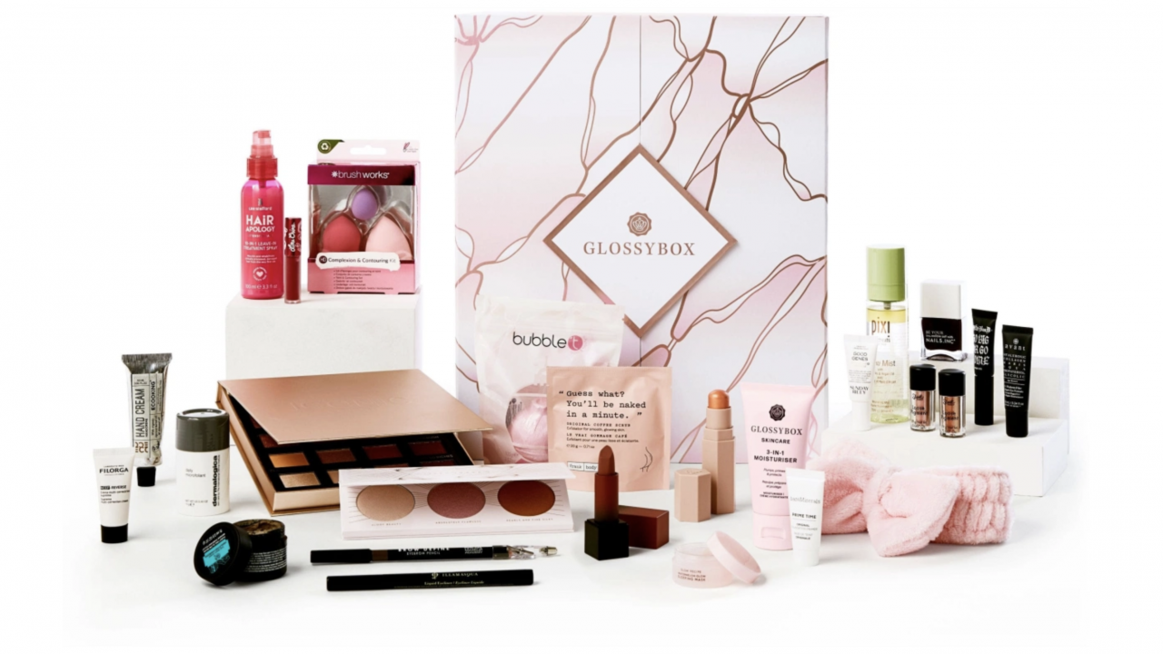 Glossybox 2020 beauty advent calendar