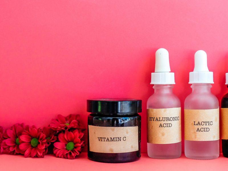 Lactic acid for skin benefits